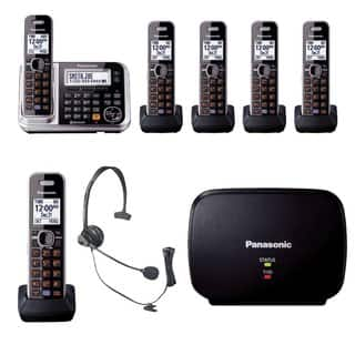 Panasonic KX-TG7875S Link2Cell Bluetooth Enabled Phone, KX-TG680S Cordless Telephone, Headset & Range Extender|https://ak1.ostkcdn.com/images/products/14124810/P20729849.jpg?impolicy=medium