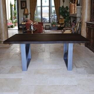 Live Edge Steel Table
