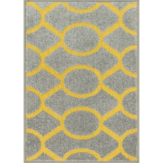 Palm Grey/ Citron Geometric Rug (2'5 x 3'9)