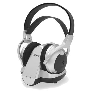 Royal 900 MHz Wireless Stereo Headphones (Silver)