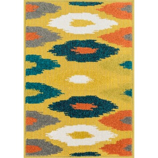 Palm Citron/ Multi Geometric Rug (2'5 x 3'9)