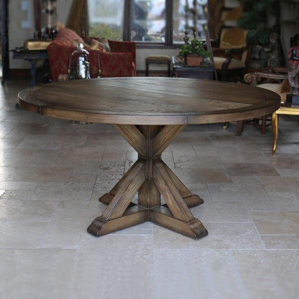 Shop LaRue Reclaimed Wood Round Dining Table - N/A - Free ...