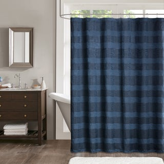 Madison Park Colton Jacquard Shower Curtain - 2 Color Option