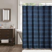 Madison Park Colton Jacquard Shower Curtain - 2 Color Option