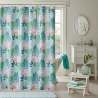 Intelligent Design Lilo Aqua Printed Shower Curtain