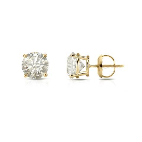 Auriya 18k Gold 1/2ct TW Clarity-enhanced Diamond Stud Earrings