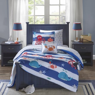 mi zone kids under the sea blue printed 8piece bed in a bag with