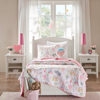 Mi Zone Kids Penelope the Poodle Pink Printed 4-piece Coverlet Set