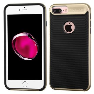 Insten Black/ Gold Hard Snap-on Dual Layer Hybrid Case Cover For Apple iPhone 7 Plus