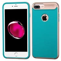 Insten Teal/ Rose Gold Hard Snap-on Dual Layer Hybrid Case Cover For Apple iPhone 7 Plus