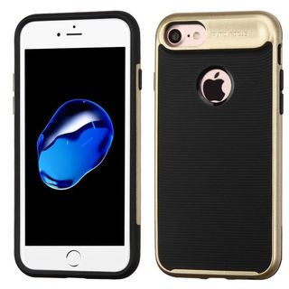 Insten Black/ Gold Hard Snap-on Dual Layer Hybrid Case Cover For Apple iPhone 7