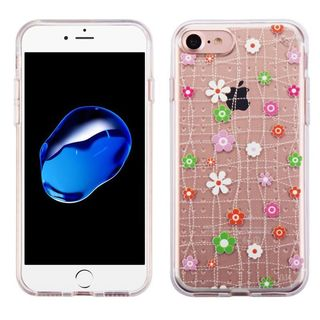 Insten Pink Tiny Blossoms TPU Rubber Candy Skin Case Cover For Apple iPhone 7