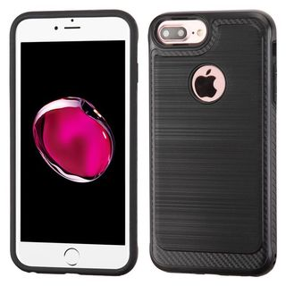 Insten Black Hard Snap-on Dual Layer Hybrid Case Cover For Apple iPhone 6 Plus/ 6s Plus/ 7 Plus