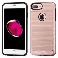 Insten Rose Gold/ Black Hard Snap-on Dual Layer Hybrid Case Cover For Apple iPhone 6 Plus/ 6s Plus/ 7 Plus