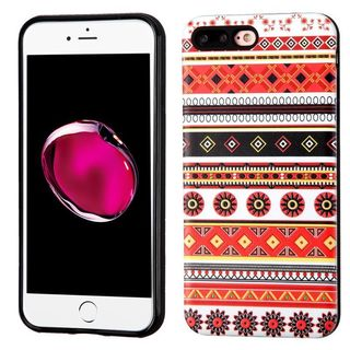 Insten Orange/ White Totem Hard Snap-on Dual Layer Hybrid Case Cover For Apple iPhone 7 Plus
