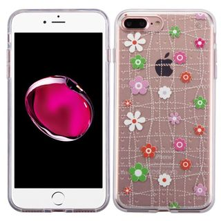 Insten Pink Tiny Blossoms TPU Rubber Candy Skin Case Cover For Apple iPhone 7 Plus