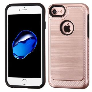 Insten Rose Gold/ Black Hard Snap-on Dual Layer Hybrid Case Cover For Apple iPhone 6/ 6s/ 7