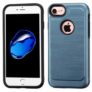 Insten Blue/ Black Hard Snap-on Dual Layer Hybrid Case Cover For Apple iPhone 6/ 6s/ 7