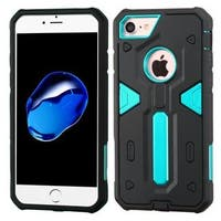 Insten Black/ Blue Dual Layer Hybrid Rubberized Hard PC/ Silicone Case Cover For Apple iPhone 7