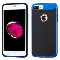 Insten Black/ Blue Hard Snap-on Dual Layer Hybrid Case Cover For Apple iPhone 7 Plus