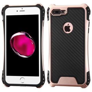 Insten Black/ Rose Gold Dual Layer Hybrid PC/ TPU Rubber Case Cover For Apple iPhone 7 Plus