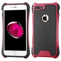 Insten Black/ Hot Pink Dual Layer Hybrid PC/ TPU Rubber Case Cover For Apple iPhone 7 Plus