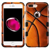 Insten Brown/ Black Basketball Tuff Hard PC/ Silicone Dual Layer Hybrid Rubberized Matte Case Cover For Apple iPhone 7 Plus