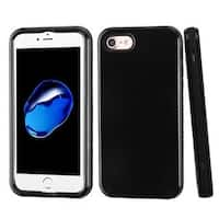 Insten Black Verge Hard PC/ Silicone Dual Layer Hybrid Rubberized Matte Case Cover For Apple iPhone 7