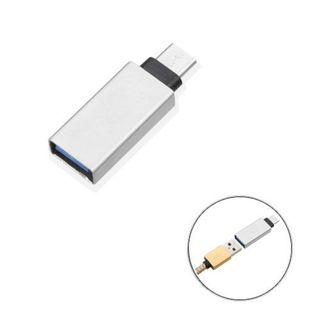 Insten Silver USB Type-C OTG Adapter (USB Type-C To USB Type-A Adapter)