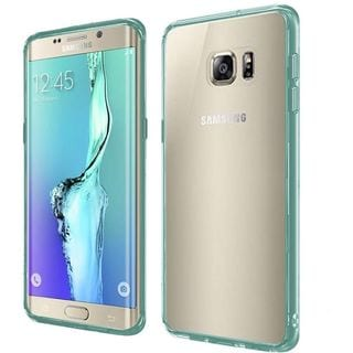 Insten Clear/ Teal Hard Snap-on Dual Layer Hybrid Crystal Case Cover For Samsung Galaxy S6 Edge Plus