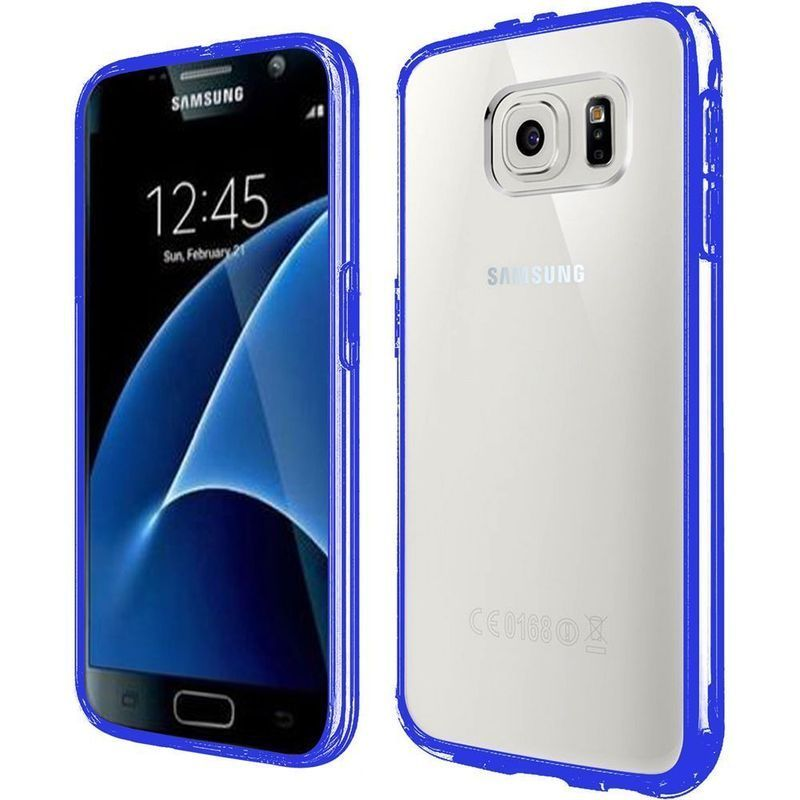 Insten Clear/ Blue Hard Snap-on Dual Layer Hybrid Crystal...