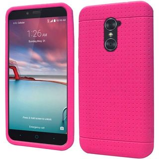 Insten Hot Pink Rugged Soft Silicone Skin Rubber Case Cover For ZTE Zmax Pro