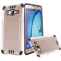 Insten Gold/ Black Hard PC/ Silicone Dual Layer Hybrid Rubberized Matte Case Cover For Samsung Galaxy On5