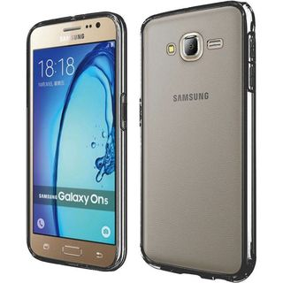 Insten Clear/ Black Hard Snap-on Crystal Case Cover For Samsung Galaxy On5