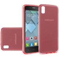 Insten Red Frosted TPU Rubber Candy Skin Case Cover For Alcatel One Touch Idol 4