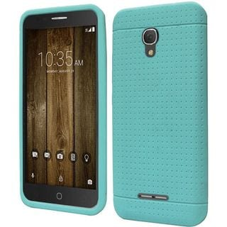 Insten Teal Rugged Silicone Skin Gel Rubber Case Cover For Alcatel One Touch Fierce 4/ Pop 4