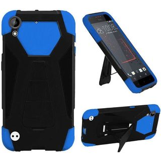Insten Blue/ Black Hard PC/ Silicone Dual Layer Hybrid Case Cover with Stand For HTC Desire 530