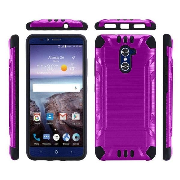 best authentic bf555 c22e6 Shop Insten Purple/ Black Hard PC/ Silicone Dual Layer Hybrid Case ...