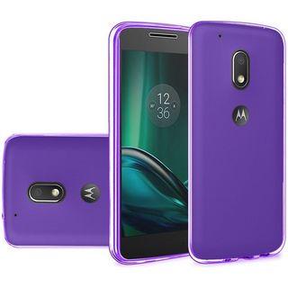 Insten Purple TPU Rubber Candy Skin Case Cover For Motorola Moto G4/ G4 PLUS