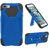 Insten Blue/ Black Hard PC/ Silicone Dual Layer Hybrid Case Cover with Stand For Apple iPhone 7 Plus