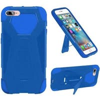 Insten Blue Hard PC/ Silicone Dual Layer Hybrid Case Cover with Stand For Apple iPhone 7 Plus