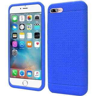 Insten Blue Rugged Soft Silicone Skin Rubber Case Cover For Apple iPhone 7