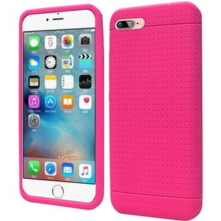 Insten Hot Pink Rugged Silicone Skin Gel Rubber Case Cover For Apple iPhone 7