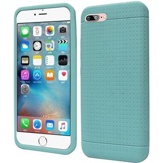 Insten Teal Rugged Silicone Skin Gel Rubber Case Cover For Apple iPhone 7