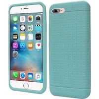 Insten Teal Rugged Silicone Skin Gel Rubber Case Cover For Apple iPhone 7 Plus
