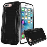 Insten Black Hard PC/ Silicone Dual Layer Hybrid Rubberized Matte Case Cover For Apple iPhone 7