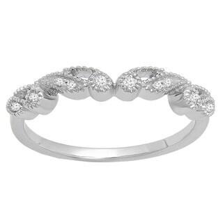 14k Gold 1/6ct TDW Round White Diamond Vintage Style Wedding Band (I-J, I2-I3)