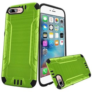 Insten Green/ Black Hard PC/ Silicone Dual Layer Hybrid Rubberized Matte Case Cover For Apple iPhone 7 Plus