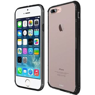 Clear/ Black Hard Snap-on Crystal Case Cover For Apple iPhone 7 Plus