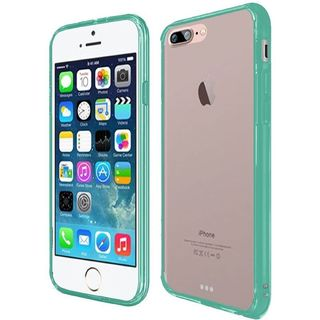 Clear/ Teal Hard Snap-on Crystal Case Cover For Apple iPhone 7 Plus